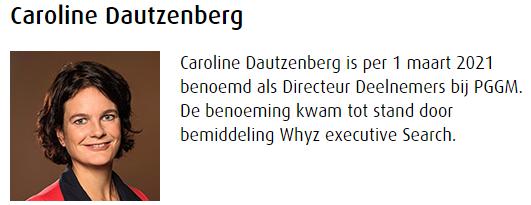 Caroline Dautzenberg – PGGM- Directeur Deelnemers
