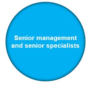 Functiegebieden – cirkel Senior Management & Senior Specialisten